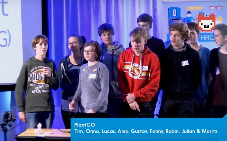 Entwickler-Team der App PlantGO bei 'Jugend hackt2019'